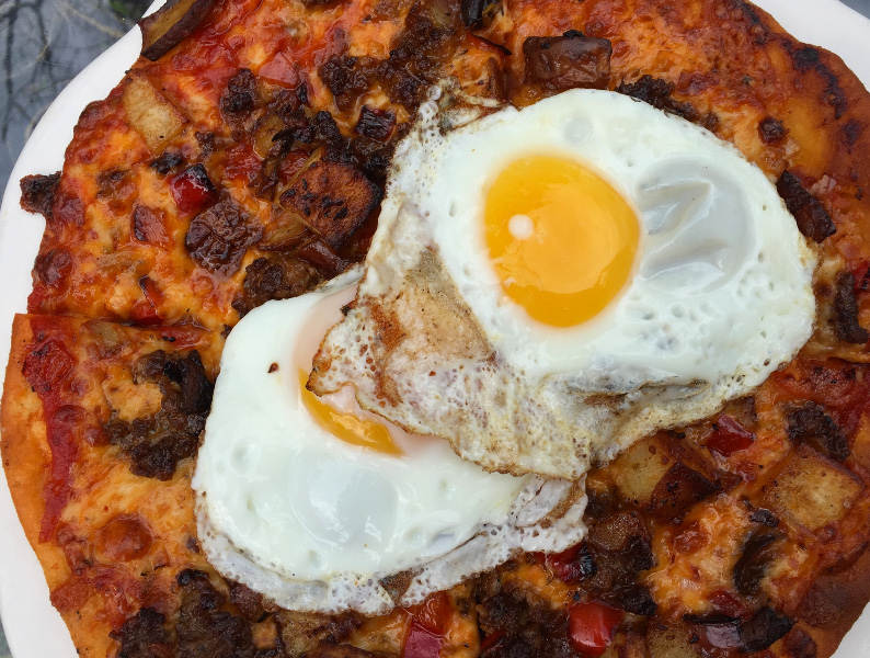 Chorizo Breakfast Flatbread